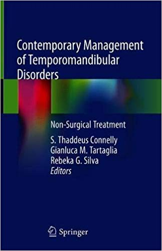 Contemporary Management of Temporomandibular Disorders: Non-Surgical Treatment 1st Edition Pdf Free Download