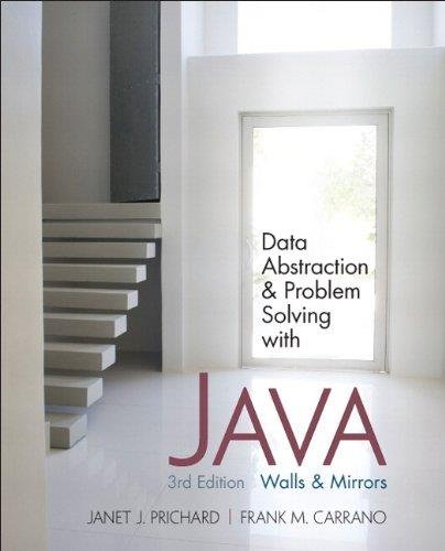 Data Abstraction & Problem Solving with Java 1st Edition Pdf Free Download