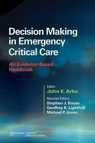 Decision Making in Emergency Critical Care 1st Edition Pdf Free Download