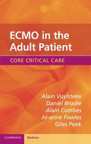 ECMO in the Adult Patient 1st Edition Pdf Free Download