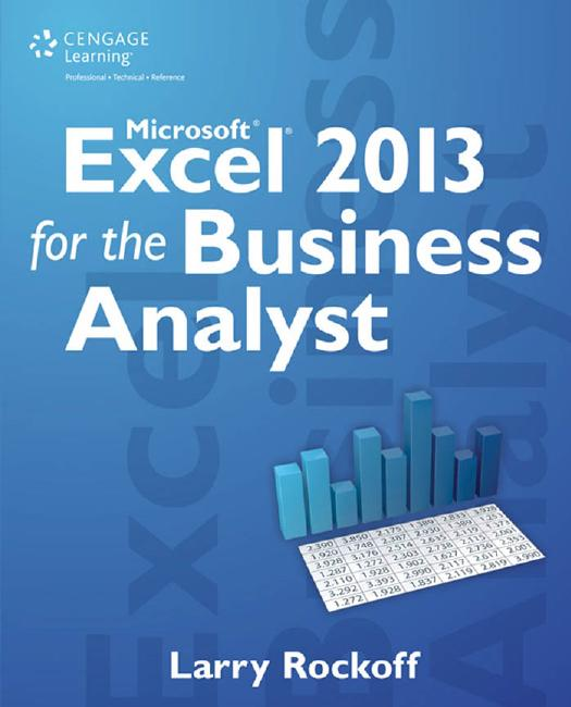 Microsoft Excel 2013 for the Business Analyst 1st Edition Pdf Free Download