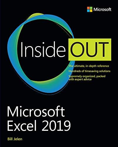 Microsoft Excel 2019 Inside Out 1st Edition Pdf Free Download