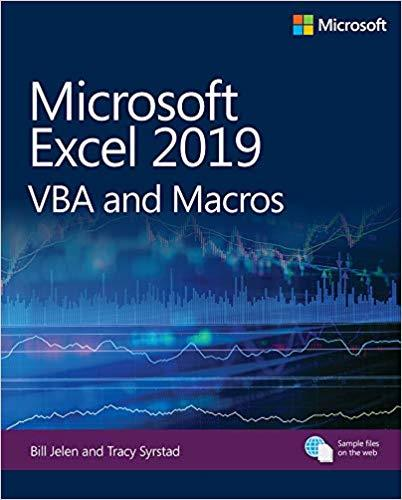 Microsoft Excel 2019 VBA and Macros 1st Edition Pdf Free Download