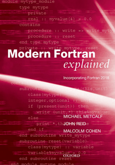 Modern Fortran Explained : Incorporating Fortran 2018 1st Edition Pdf Free Download