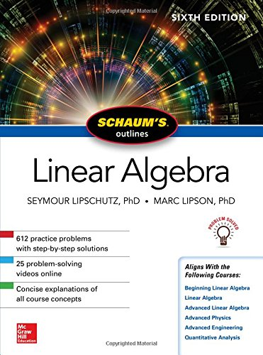 Schaum's Outline of Linear Algebra 6th Edition Pdf Free Download