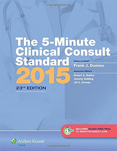 The 5-Minute Clinical Consult Standard 2015 1st Edition Pdf Free Download