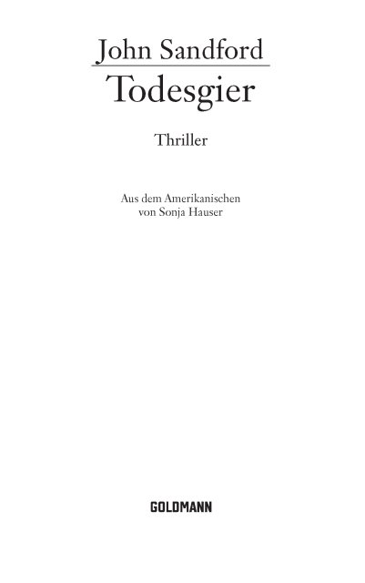 Todesgier - Thriller 1st Edition Pdf Free Download