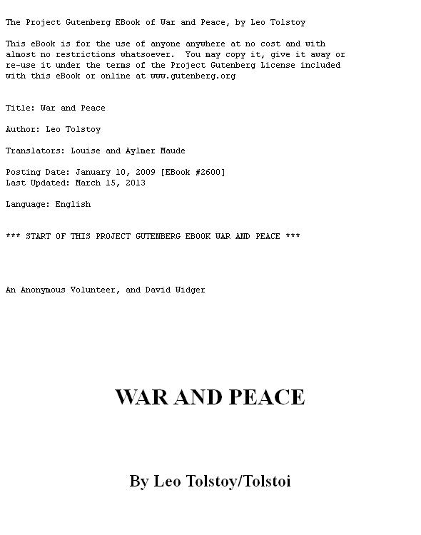 War and Peace 1st Edition Pdf Free Download